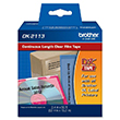 "Brother 62mm (2 3/7"") Black on Clear Continuous Length Film Label Tape (15m/50') (1/Pkg)"