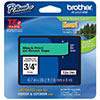 "Brother 18mm (3/4"") Black on Green Laminated Tape (8m/26.2') (1/Pkg)"
